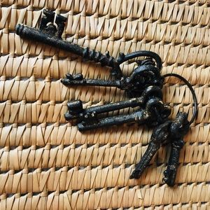 Set of Decorative Brown Keys